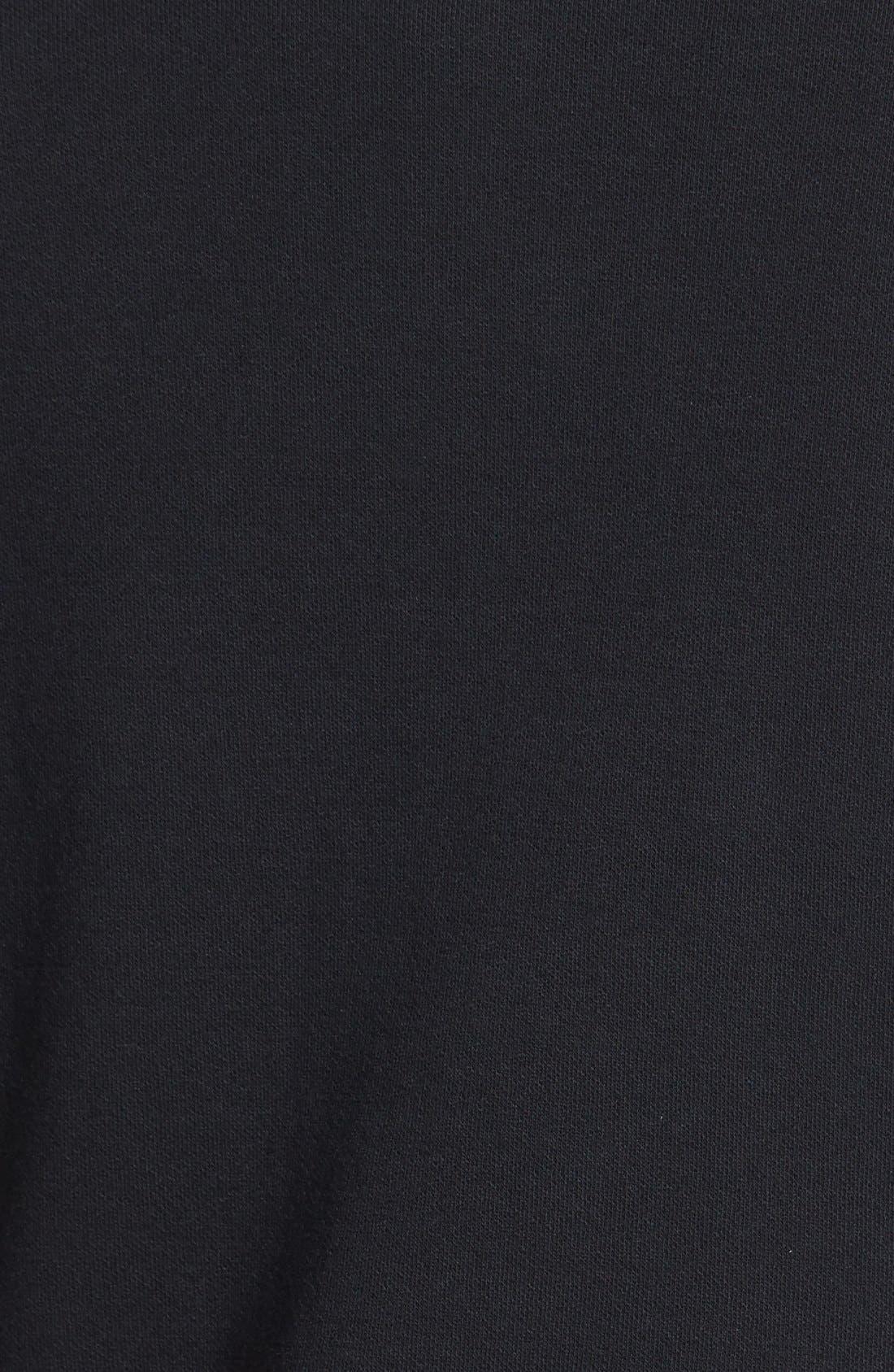 ,                             Roll Sleeve Knit Blazer,                             Alternate thumbnail 3, color,                             001