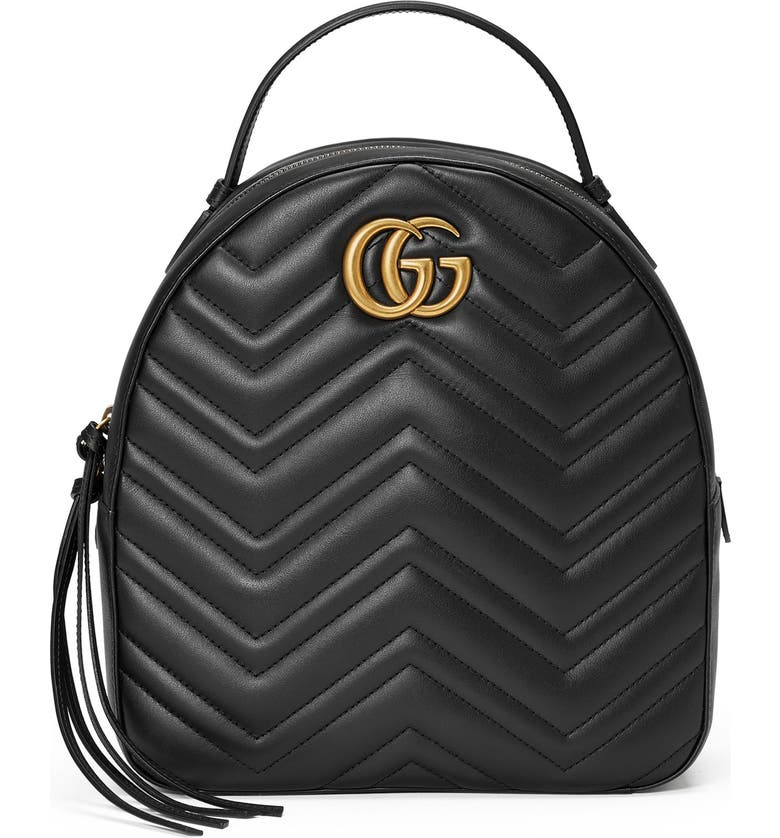 GUCCI GG Marmont Matelassé Quilted Leather Backpack, Main, color, 005