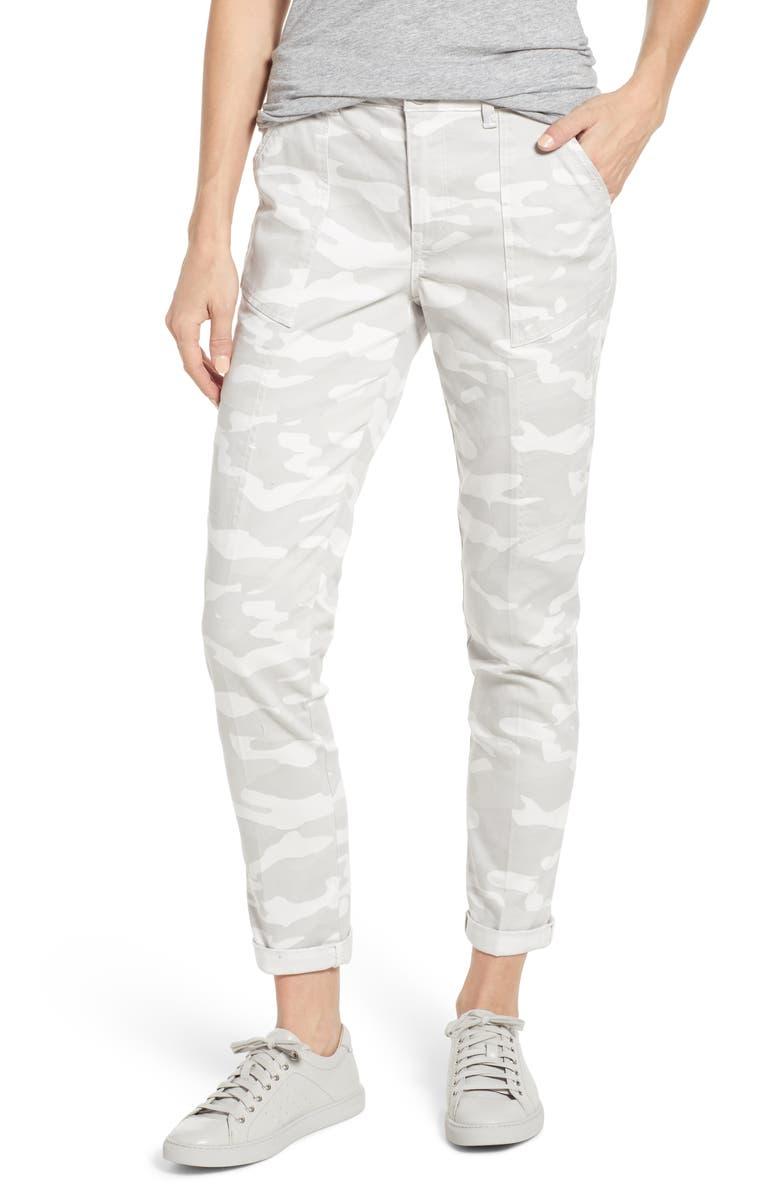 WIT & WISDOM Flex-ellent Camo High Waist Cargo Pants, Main, color, LIGHT GREY