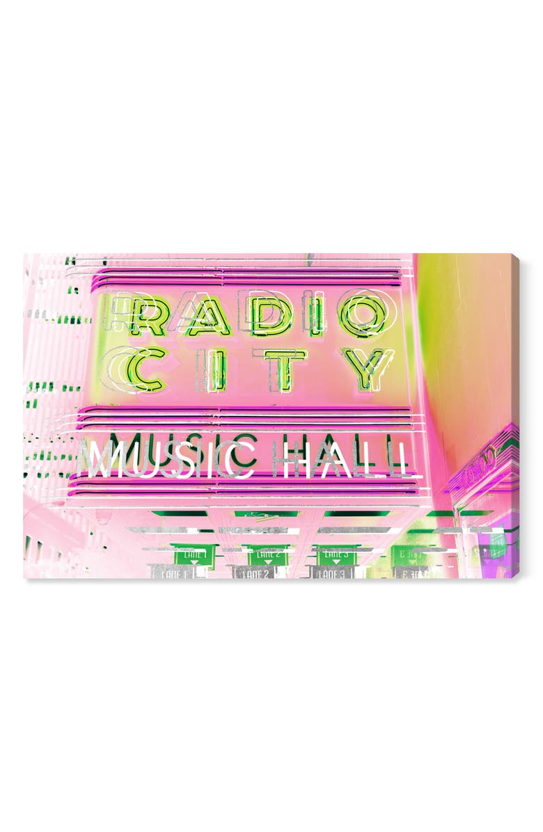 OLIVER GAL Radio City Music Hall Canvas Wall Art, Main, color, PINK