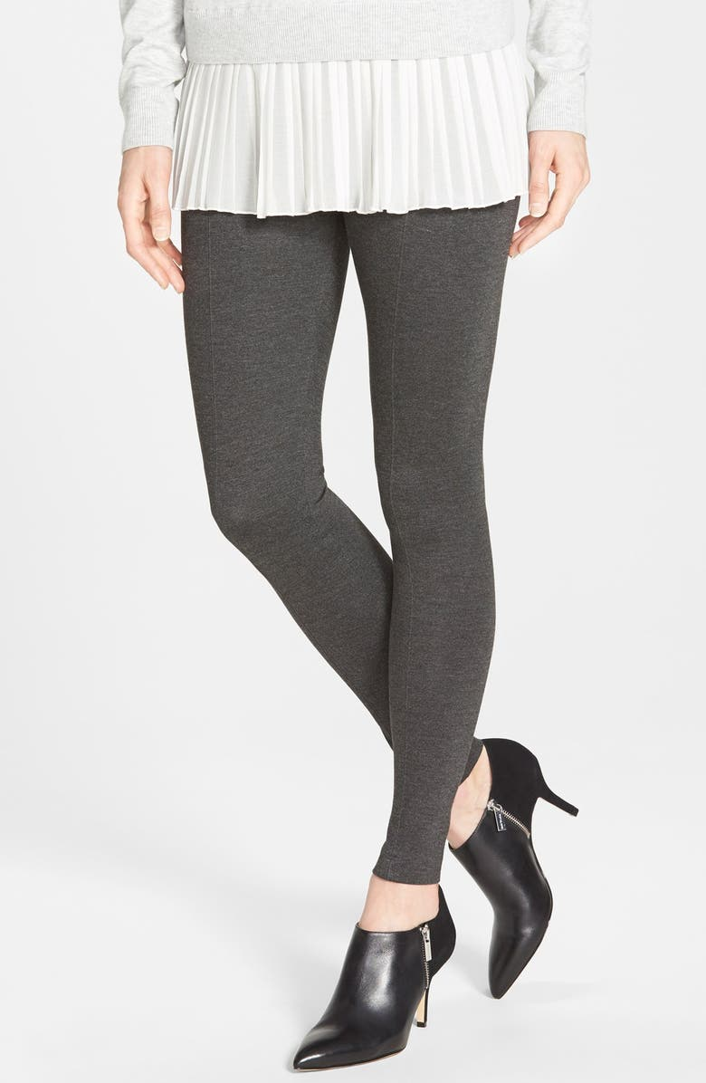 LYSSÉ Center Seam Ponte Leggings, Main, color, CHARCOAL