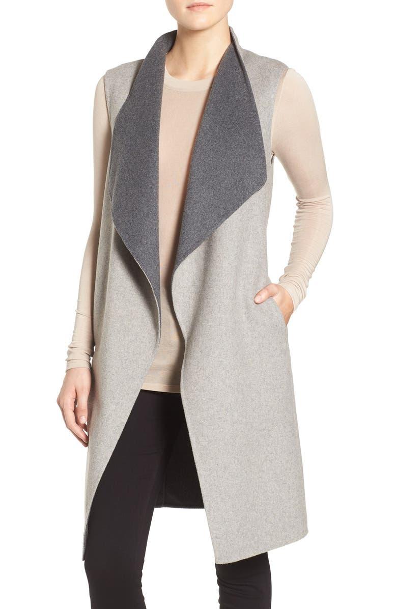 SOIA & KYO Double-Face Wool Blend Vest, Main, color, 084