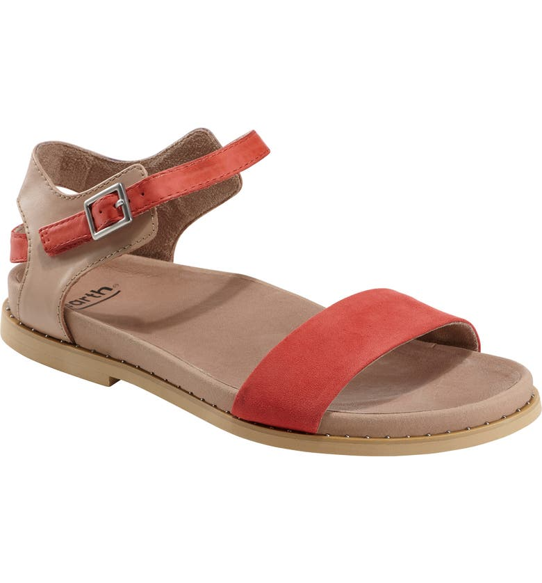 EARTH<SUP>®</SUP> Cameo Sandal, Main, color, BRIGHT CORAL SUEDE