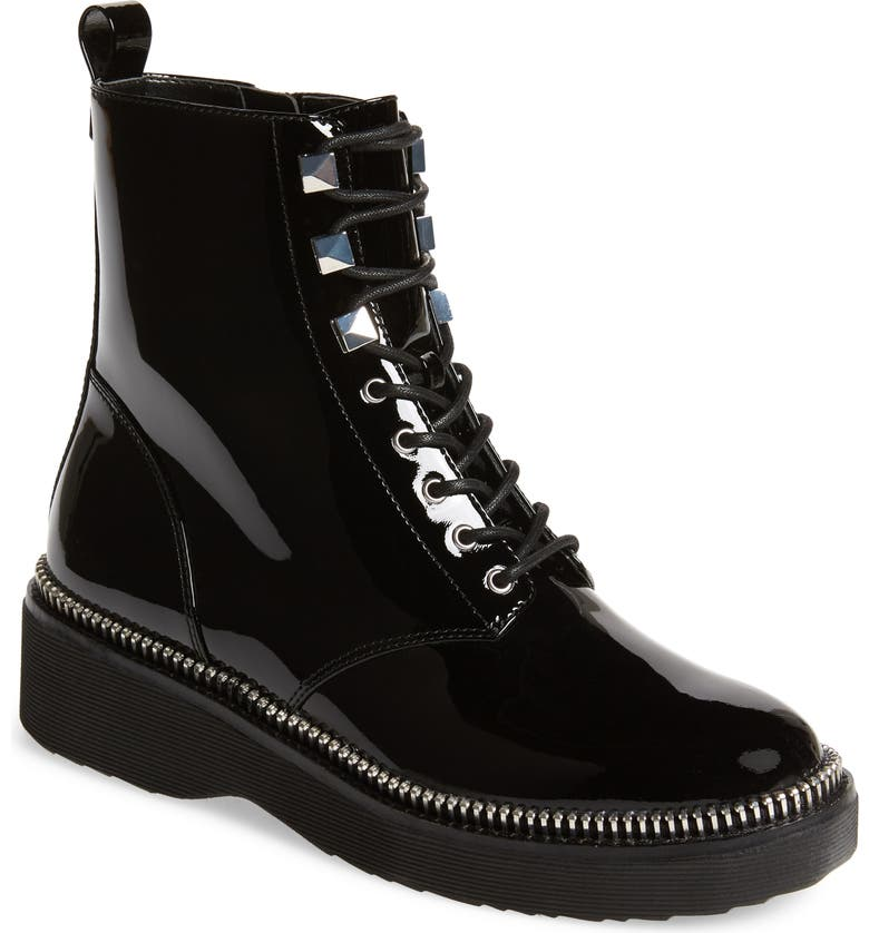 MICHAEL MICHAEL KORS Haskell Combat Boot, Main, color, BLACK PATENT LEATHER