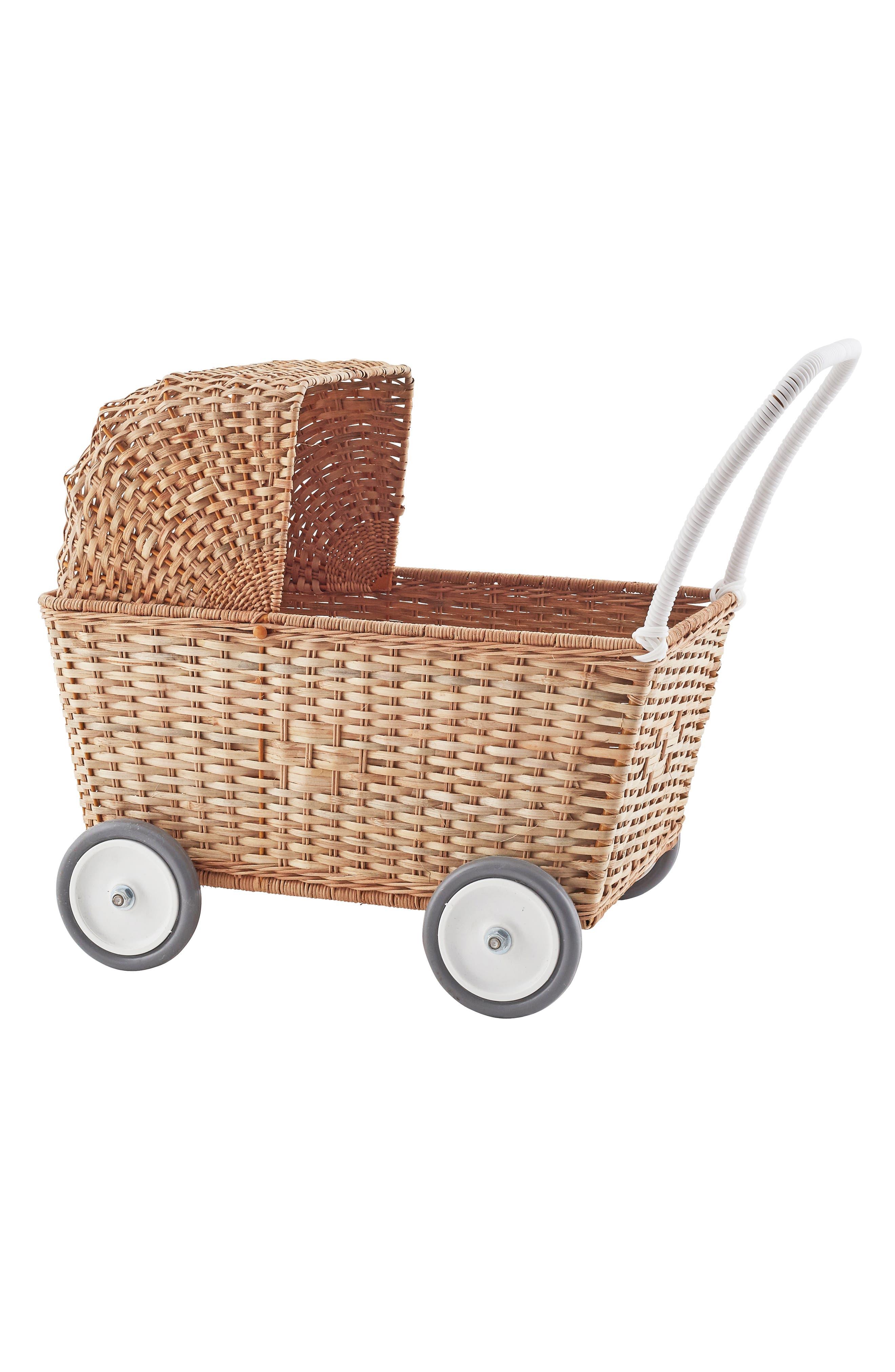 Olli Ella Strolley Convertible Rattan Trolley