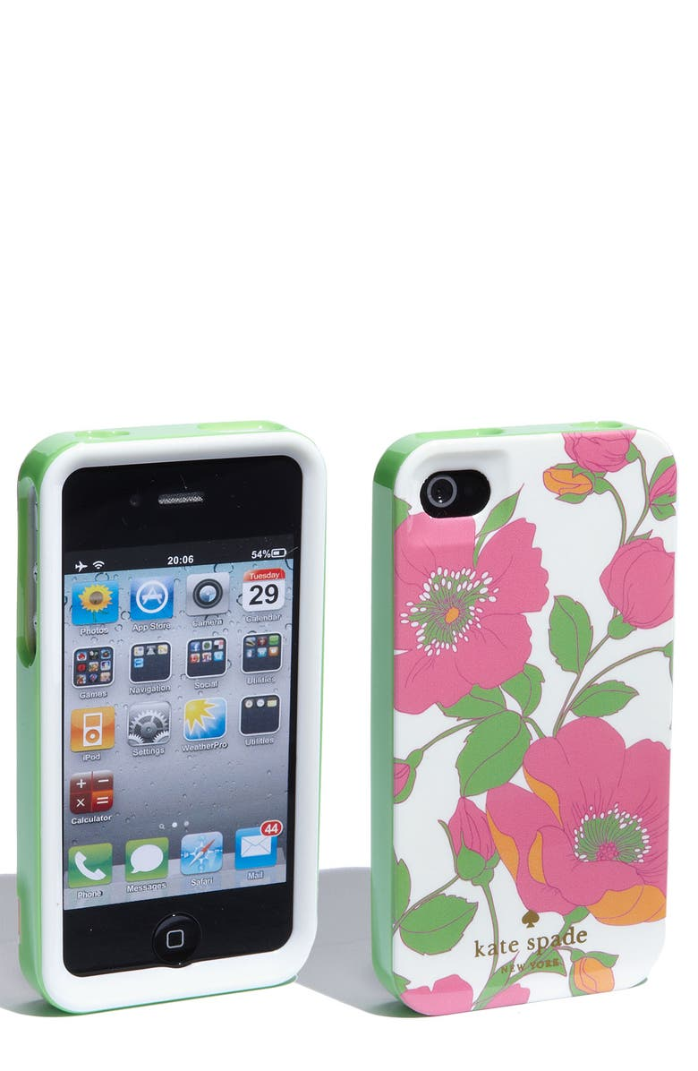 KATE SPADE NEW YORK 'garden society' iPhone 4 & 4S case, Main, color, 687