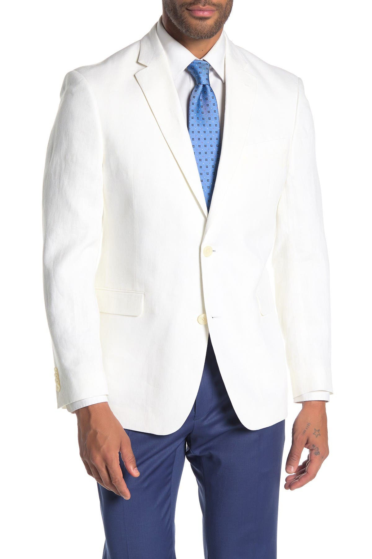 Tommy Hilfiger Men's Modern-fit Thflex Stretch Solid White Suit Jacket