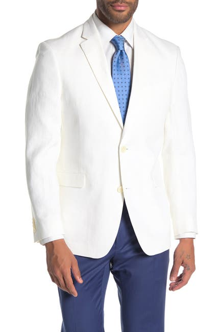 Image of Tommy Hilfiger Whiten Linen Suit Separate Jacket
