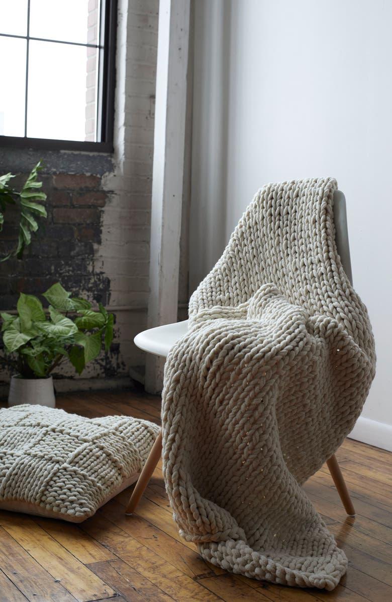 TREASURE & BOND Jersey Rope Basket Accent Pillow, Main, color, 250