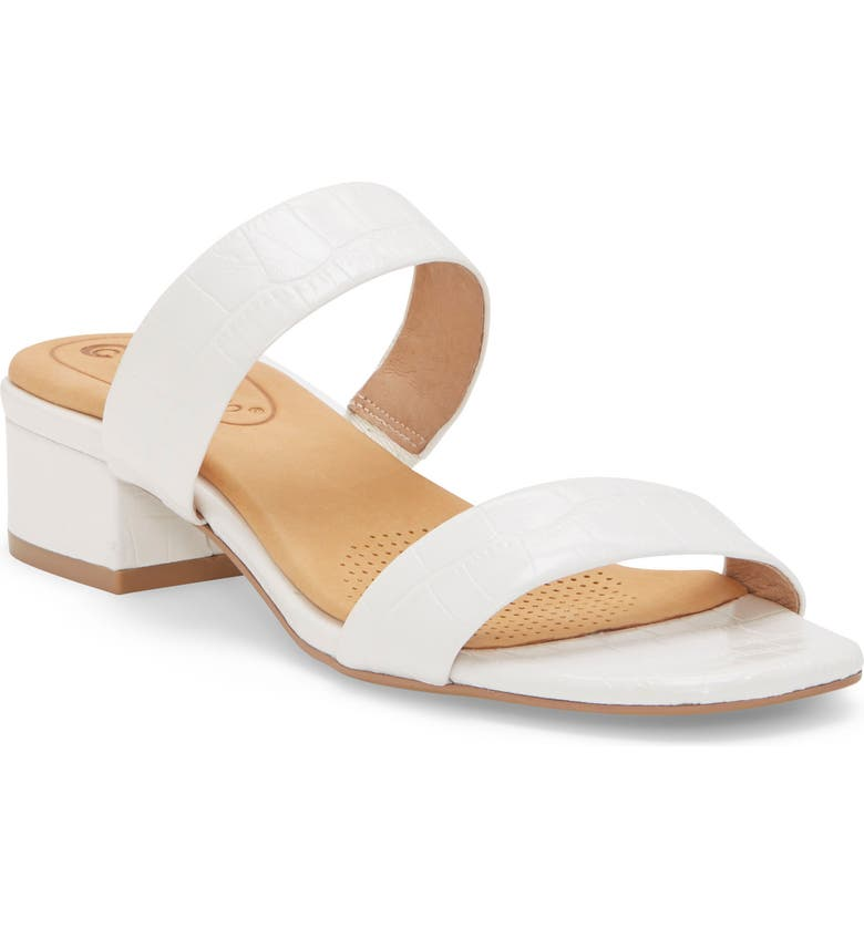 CC CORSO COMO<SUP>®</SUP> Faeya Slide Sandal, Main, color, WHITE EMBOSSED LEATHER