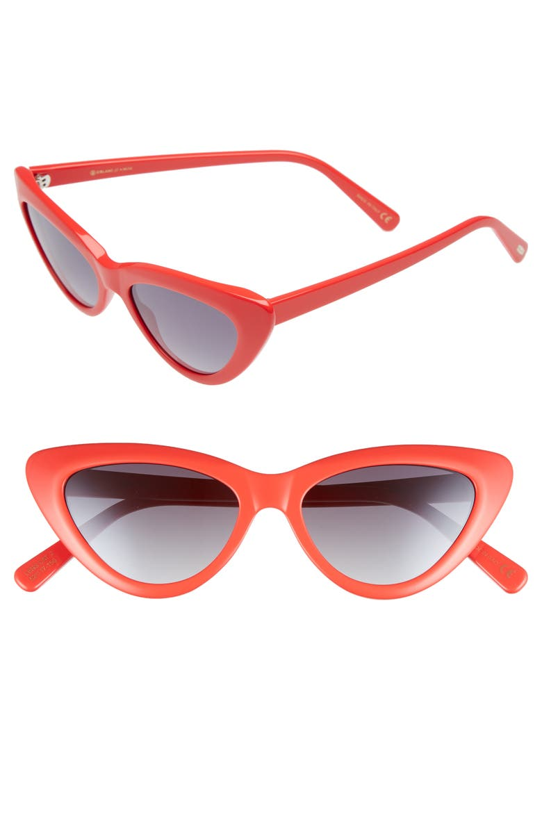 D'BLANC A-Muse 52mm Sunglasses, Main, color, CANDY RED