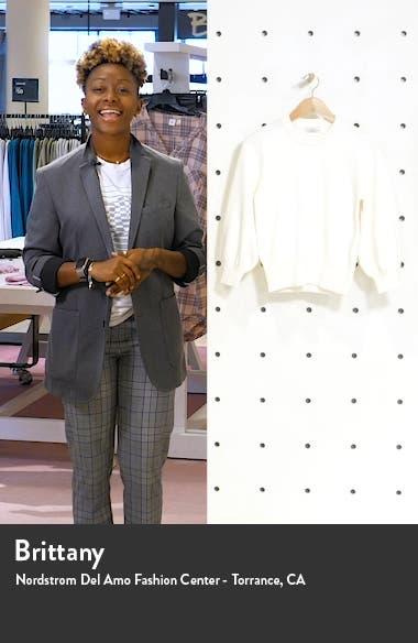 Bishop Sleeve Cotton Blend Sweater, sales video thumbnail