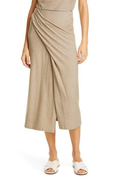 Image of Vince Twist Drape Midi Skirt