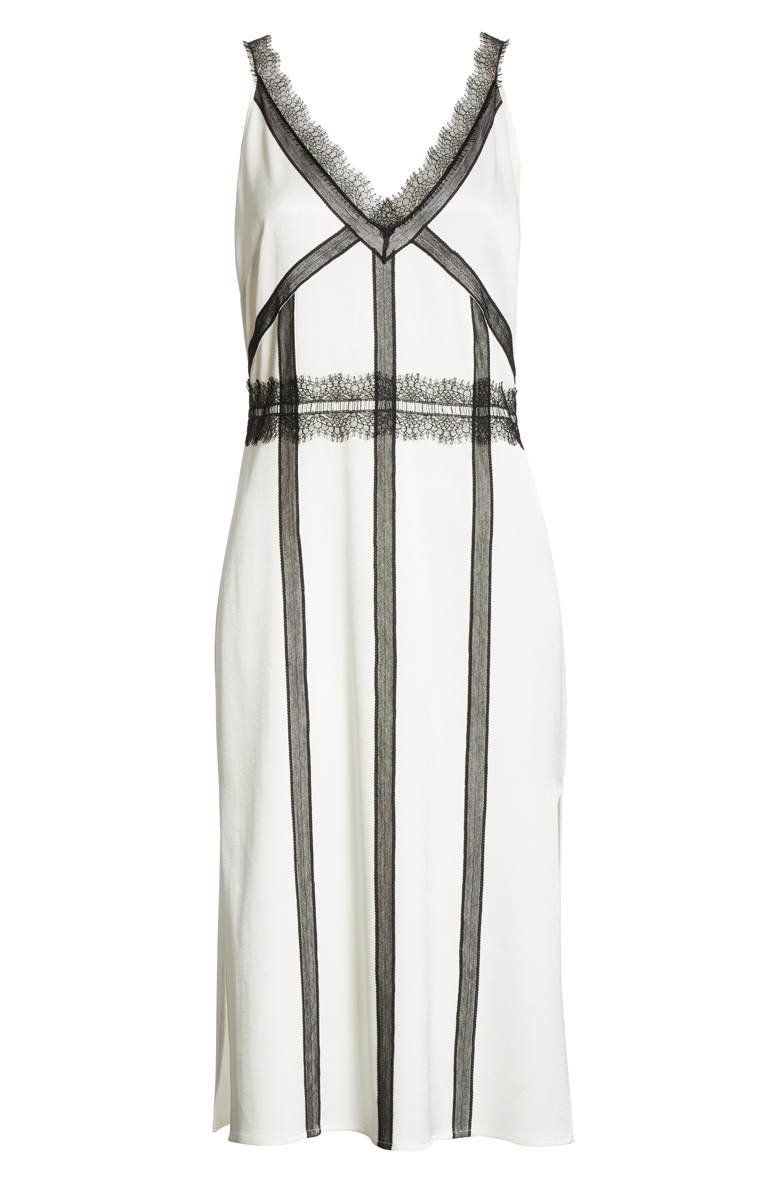 ,                             Crepe Back Satin Dress,                             Alternate thumbnail 7, color,                             COCONUT WHITE
