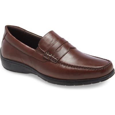 Johnston & Murphy Crawford Penny Loafer- Brown