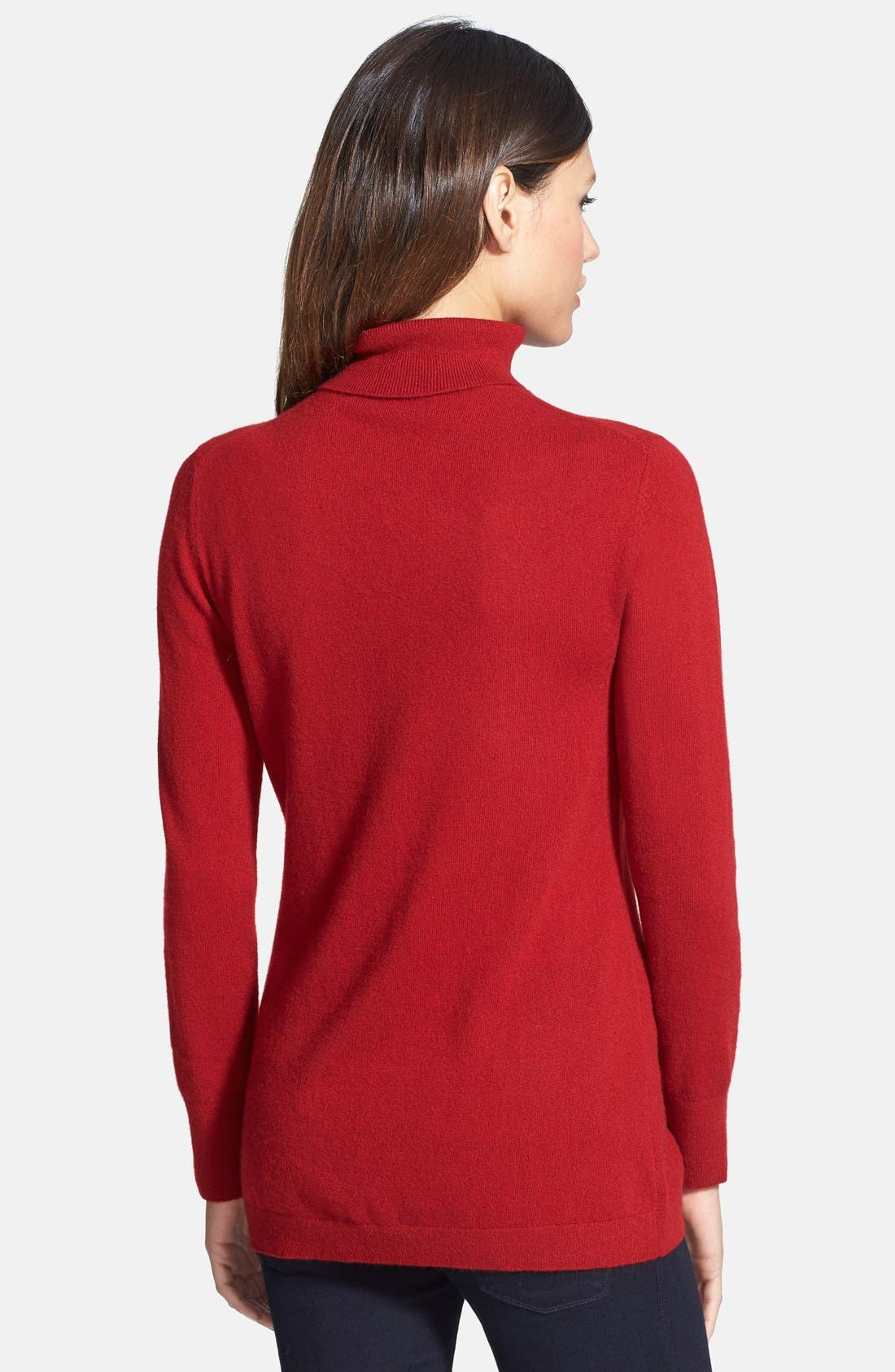 ,                             Long Cashmere Turtleneck Sweater,                             Alternate thumbnail 45, color,                             601