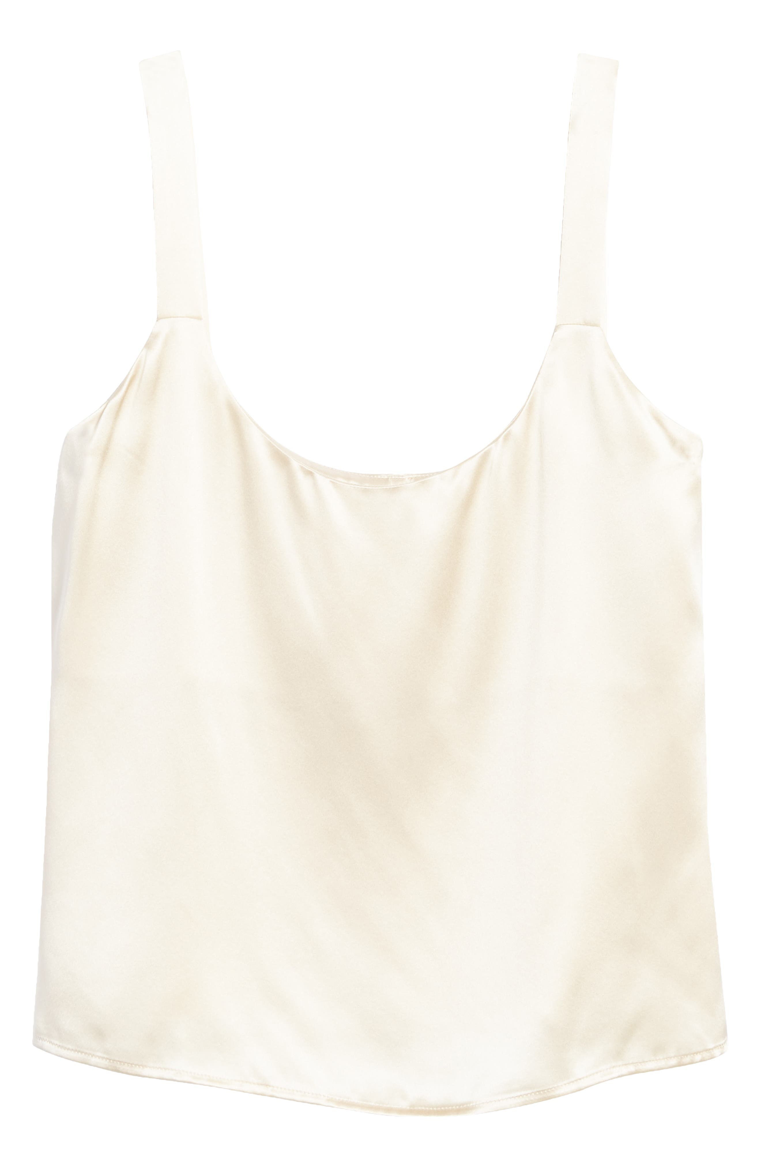 Just a wisp of pure silk, this cropped camisole is a light first layer for all of your favorite cool-season looks. Style Name: Reformation Casa Silk Crop Camisole. Style Number: 6141203. Available in stores.