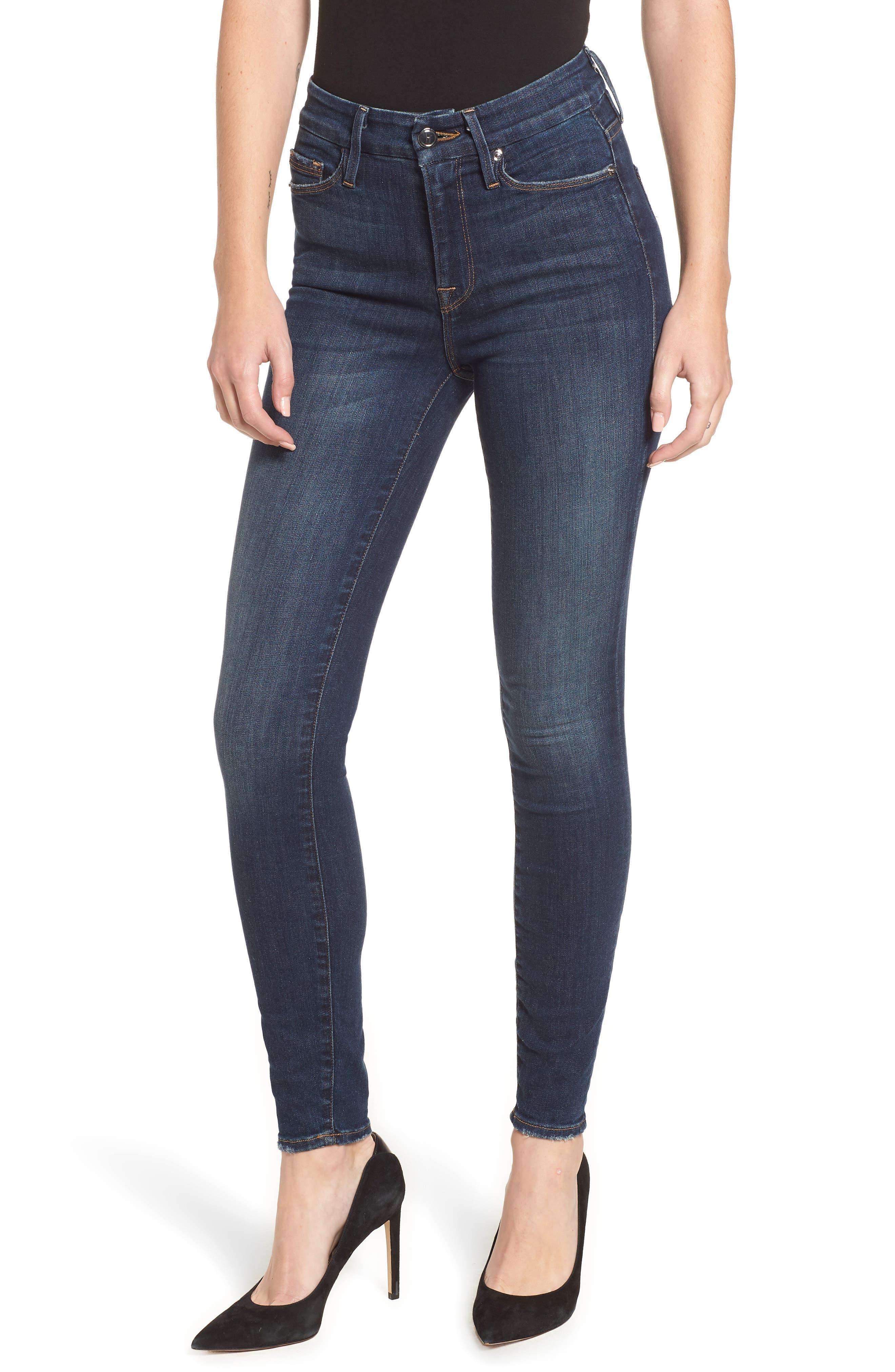 ,                             Good Legs High Waist Skinny Jeans,                             Main thumbnail 11, color,                             403
