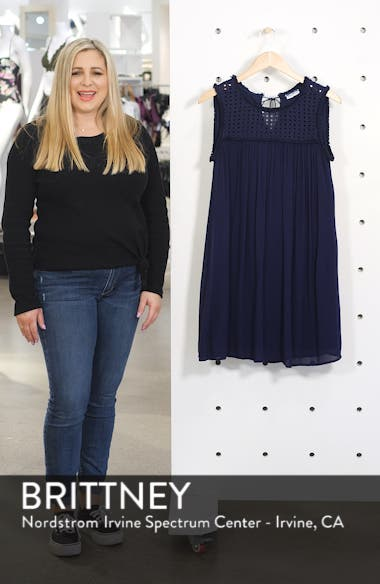 Eyelet Yoke Cover-Up Dress, sales video thumbnail