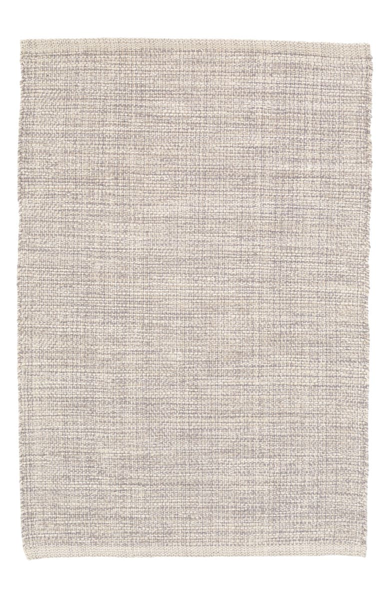 DASH & ALBERT Woven Cotton Rug, Main, color, GREY