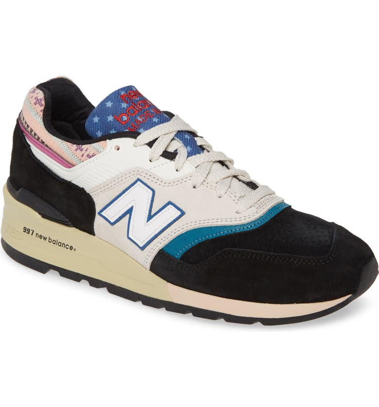 NEW BALANCE 997 Sneaker, Main, color, BLACK SUEDE
