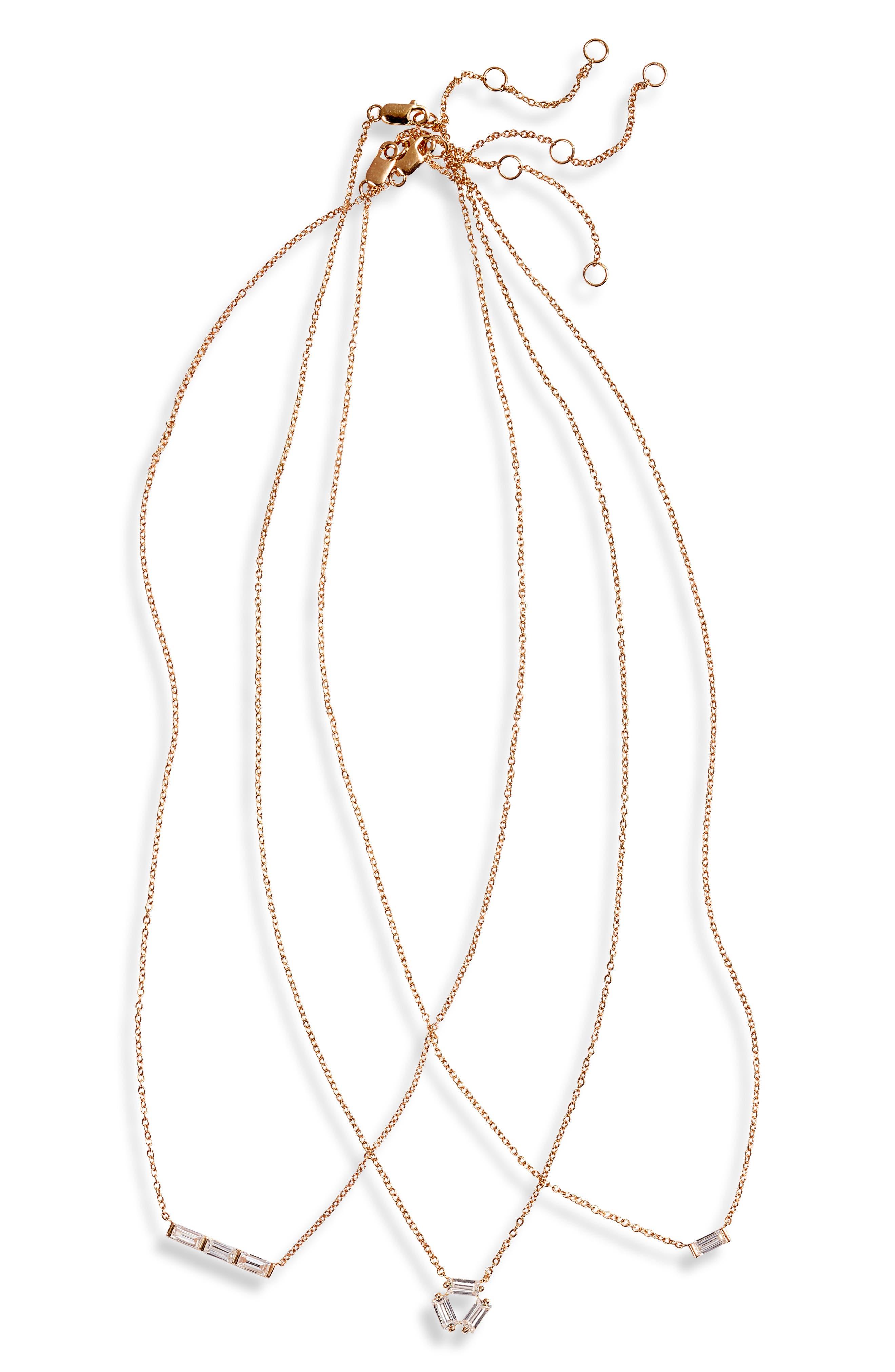 08da627da Nordstrom 3-Pack Cubic Zirconia Pendant Necklaces