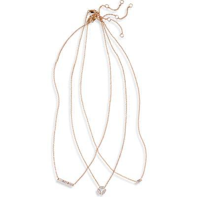 Nordstrom 3-Pack Cubic Zirconia Pendant Necklaces