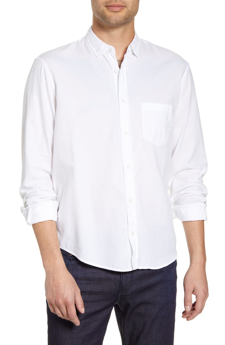 FRANK & EILEEN Don Regular Fit Solid Button-Up Sport Shirt, Main, color, WHITE