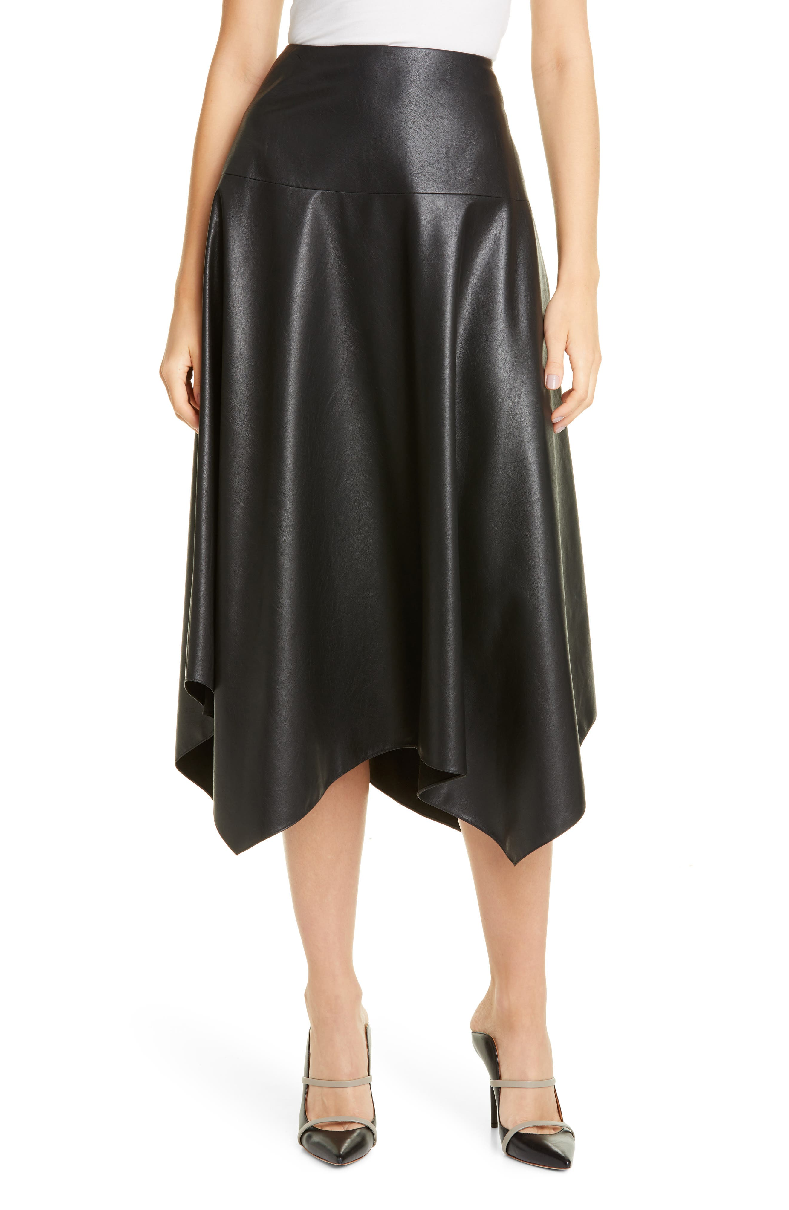 Image of Rebecca Taylor Vegan Faux Leather Skirt