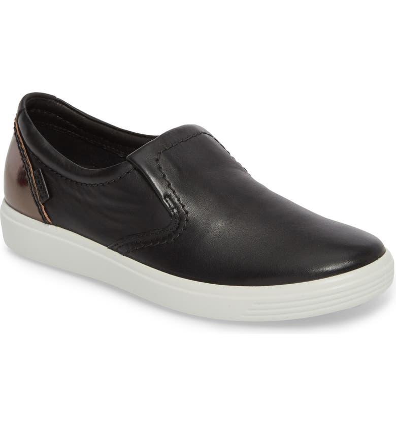 ECCO Soft 7 Slip-On Sneaker, Main, color, 012