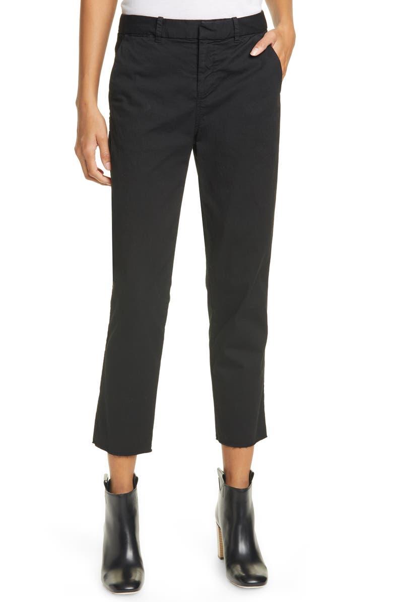 NILI LOTAN Montauk Crop Pants, Main, color, JET BLACK