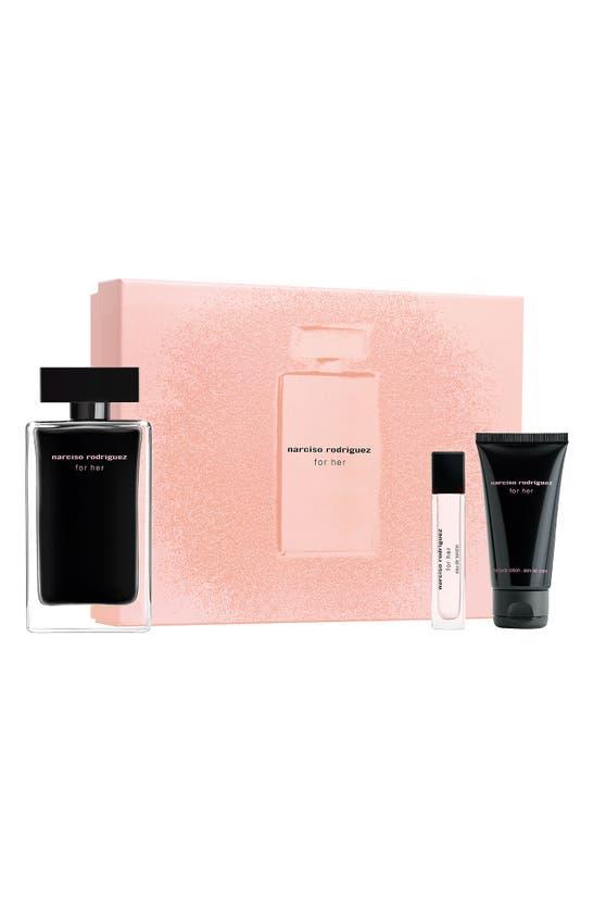 Narciso Rodriguez For Her Eau De Toilette 3 Piece Gift Set ($155 Value)