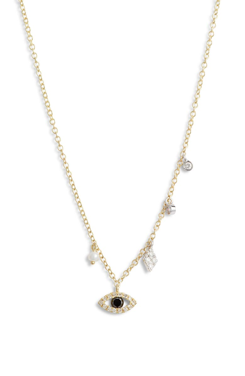MEIRA T Evil Eye Diamond Pendant Necklace, Main, color, 710