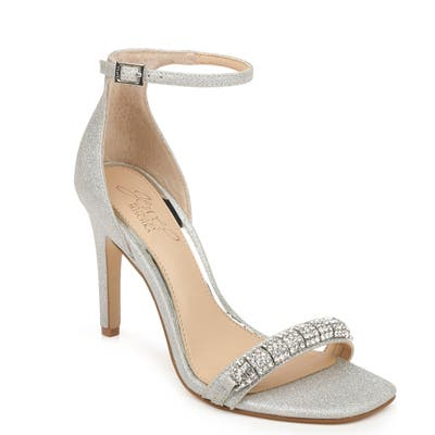 Jewel Badgley Mischka Ranya Ankle Strap Sandal- Metallic