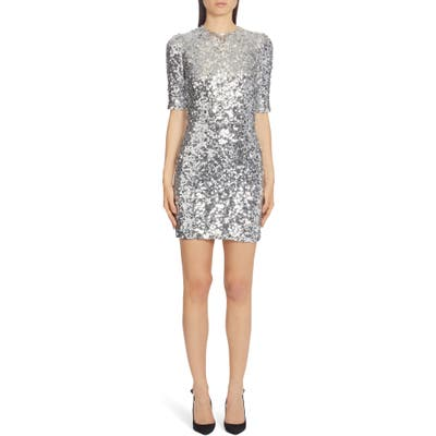 Dolce & gabbana Paillette Minidress, US / 44 IT - Metallic