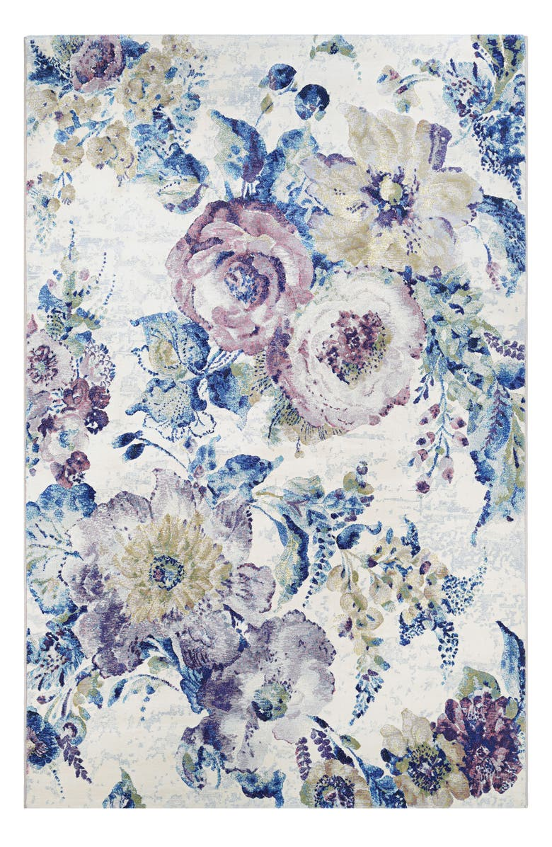 COURISTAN Floral Chic Indoor/Outdoor Rug, Main, color, BONE/ MULTI