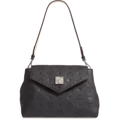 Mcm Essentials Monogram Leather Small Crossbody Bag -