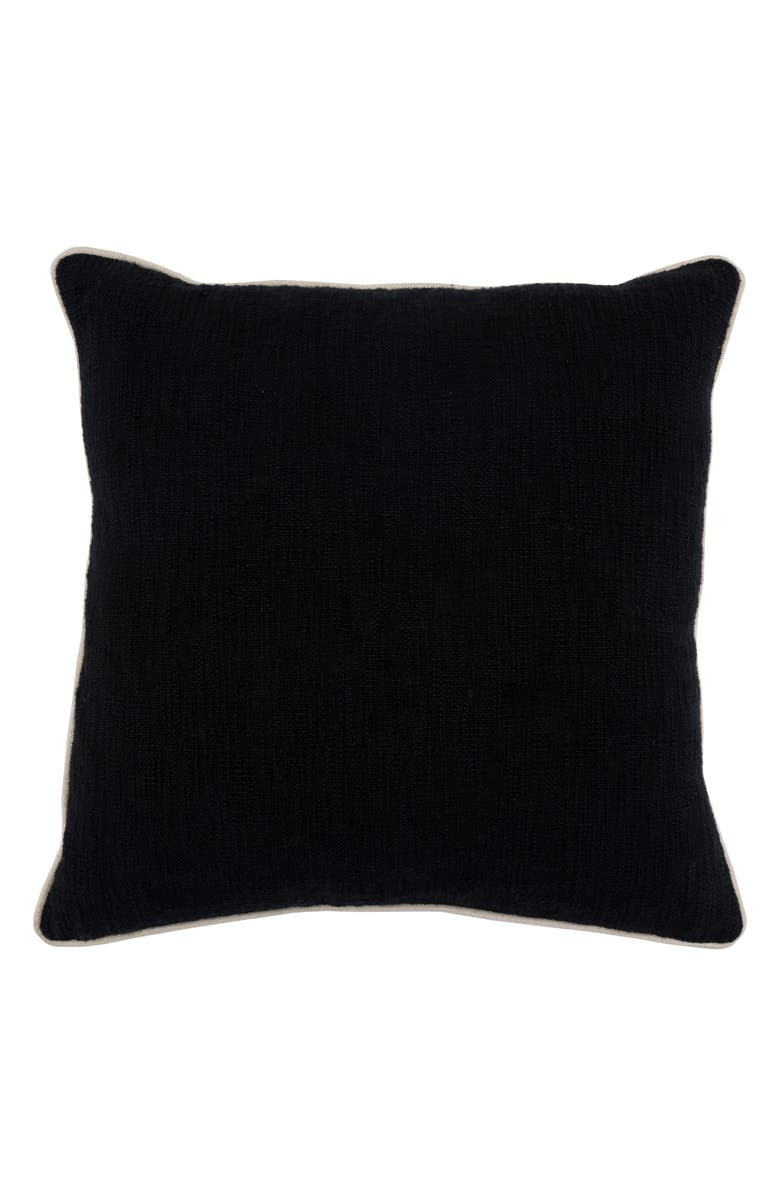 VILLA HOME COLLECTION Alba Accent Pillow, Main, color, BLACK