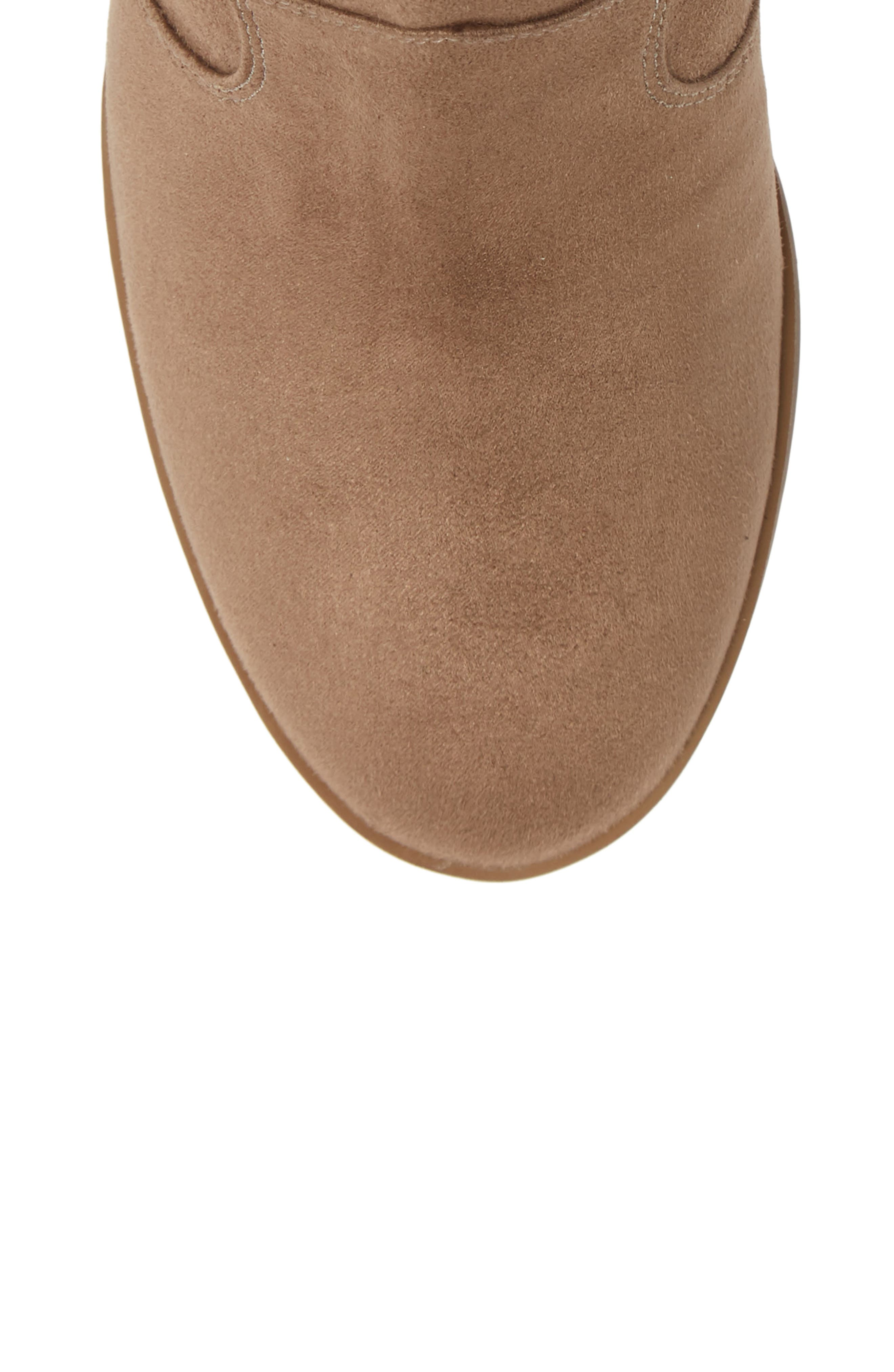 ,                             Nolly Bootie,                             Alternate thumbnail 5, color,                             TAUPE FAUX SUEDE