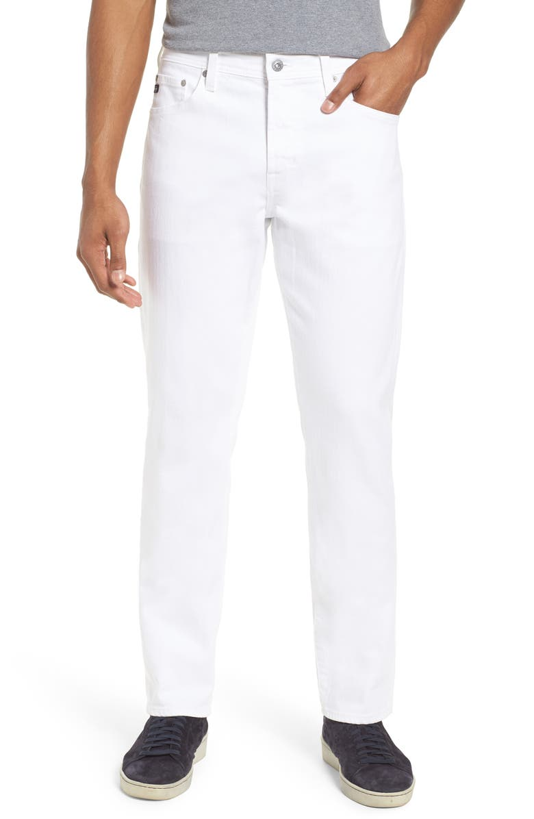 AG Everett Slim Straight Leg Jeans, Main, color, WHITE