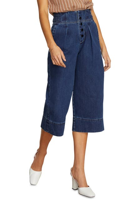 Image of Habitual Button Fly High Rise Wide Leg Crop Nonstretch Jeans