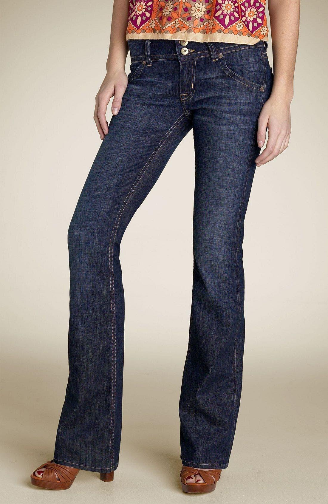 ,                             Signature Flap Pocket Bootcut Jeans,                             Main thumbnail 64, color,                             469