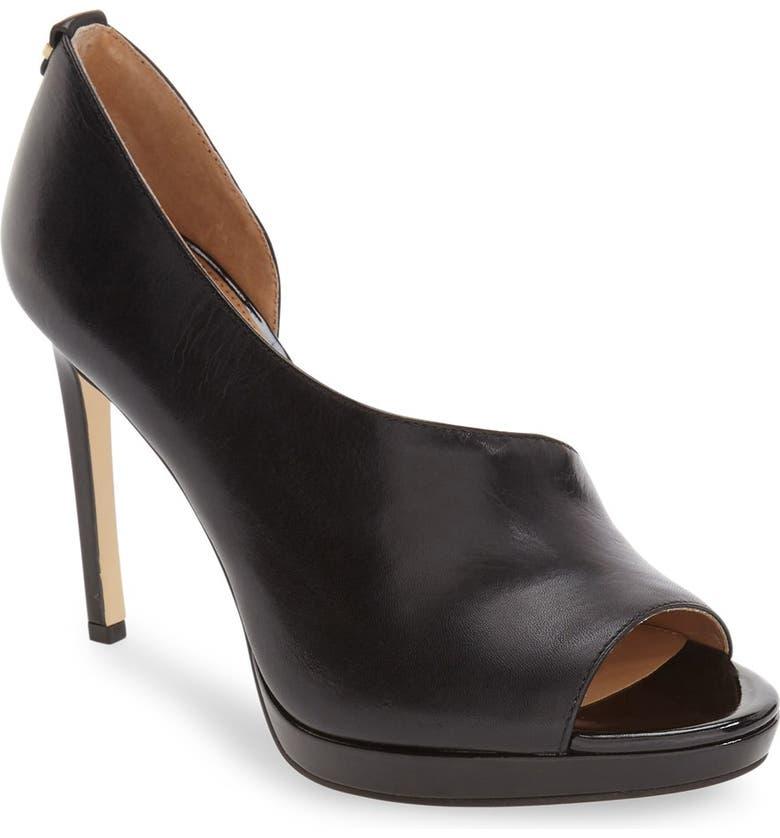 8f63bfd3e54 Calvin Klein 'Saira' Peep Toe Demi-d'Orsay Platform Pump (Women ...