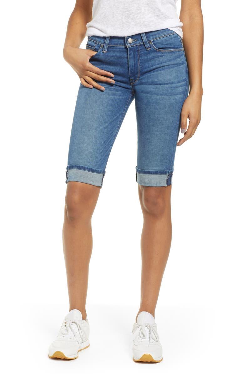 HUDSON JEANS Amelia Cuff Bermuda Shorts, Main, color, VISION