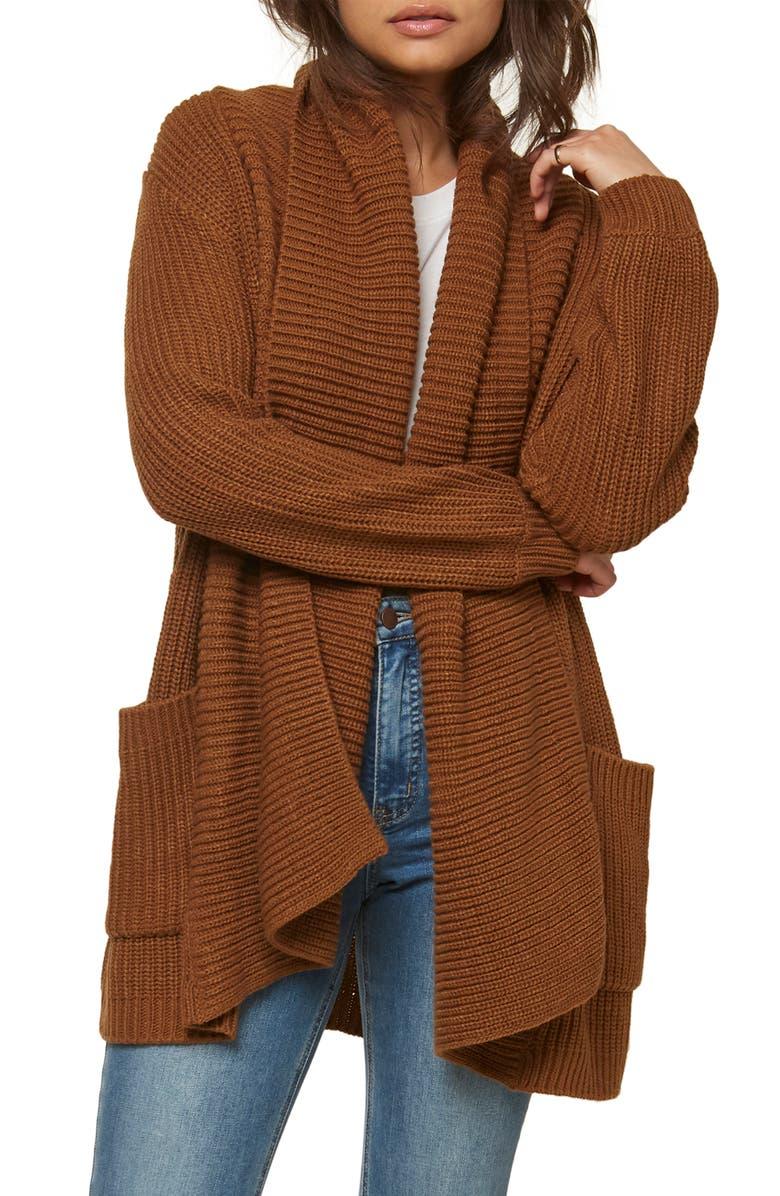 O'NEILL Galley Shawl Collar Cardigan, Main, color, 215