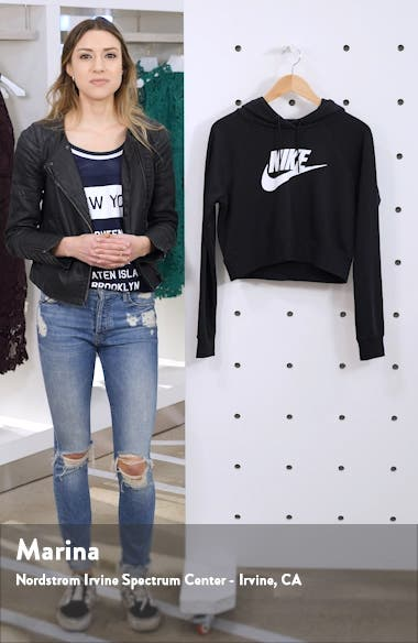 Sportswear Essential Crop Hoodie, sales video thumbnail