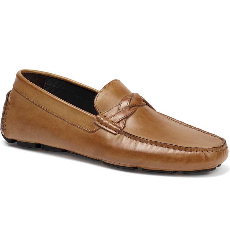 TRASK Silas River Moc Toe Slip-On, Main, color, TAN LEATHER