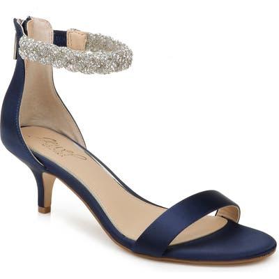 Jewel Badgley Mischka Nepeta Embellished Sandal, Blue