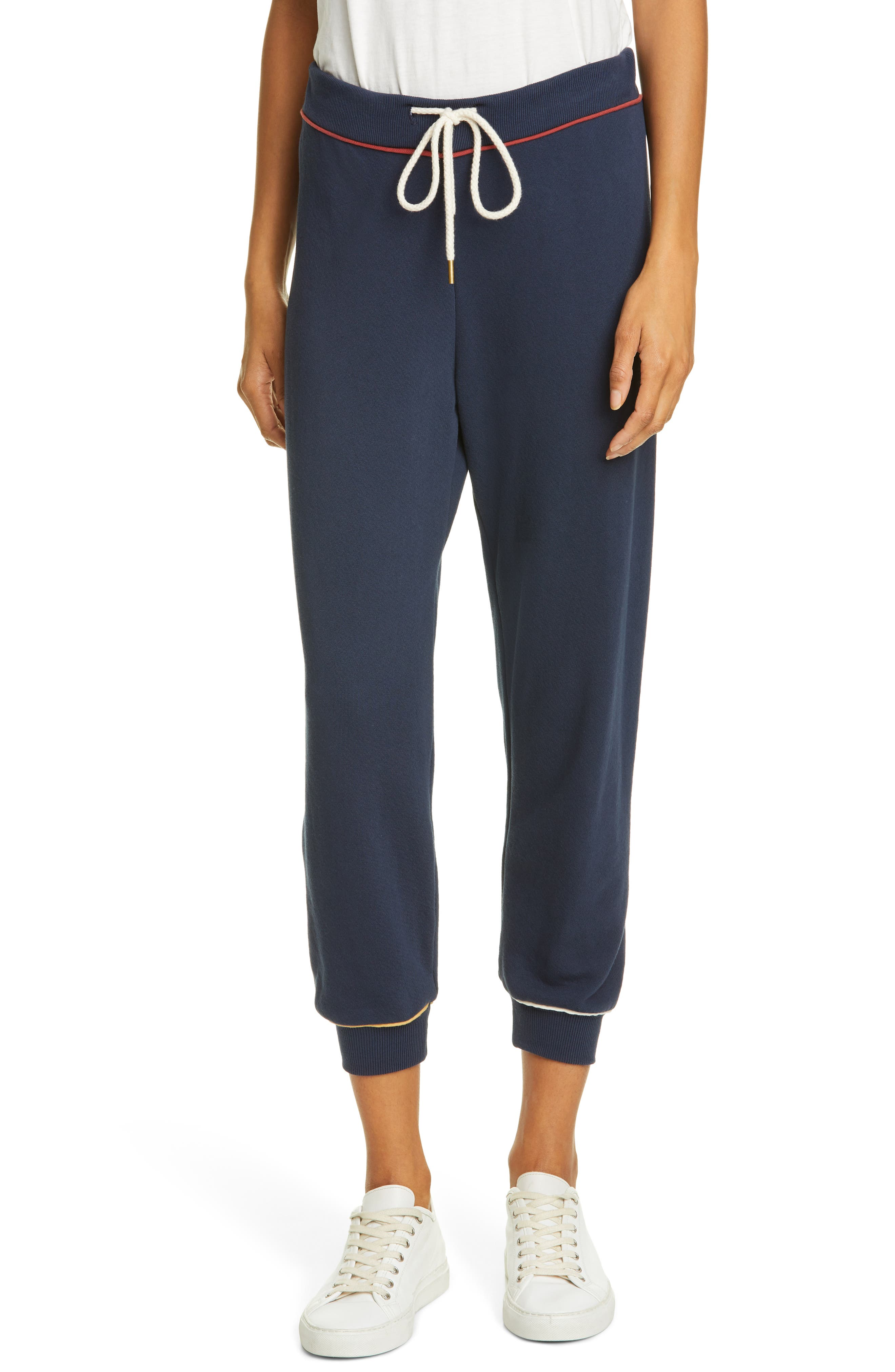 The Great. The Cropped Sweatpants, Blue