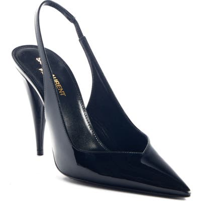 Saint Laurent Kiki Slingback Pump, Black